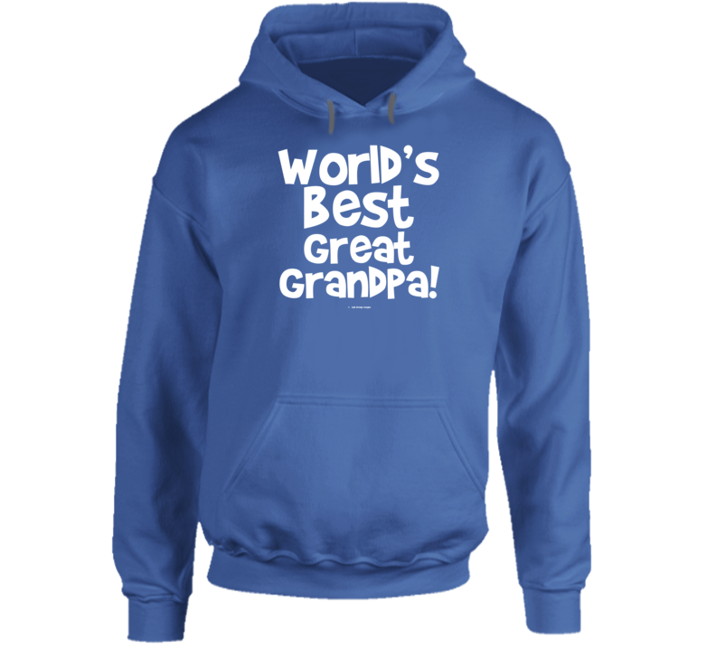World's Best Great Grandpa Gift  Fathers Day Dad Cold Springs Designs Hoodie