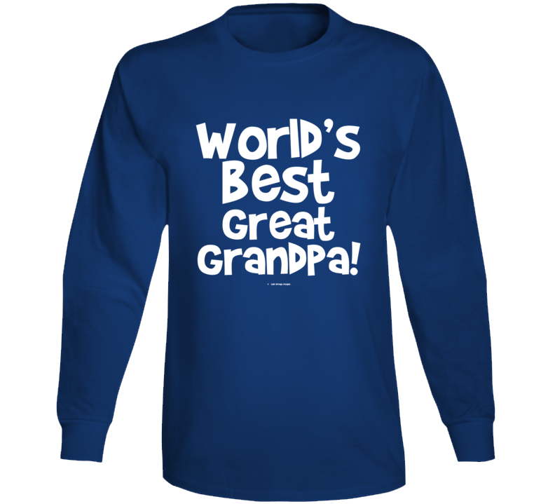 World's Best Great Grandpa Gift  Fathers Day Dad Cold Springs Designs Long Sleeve T Shirt