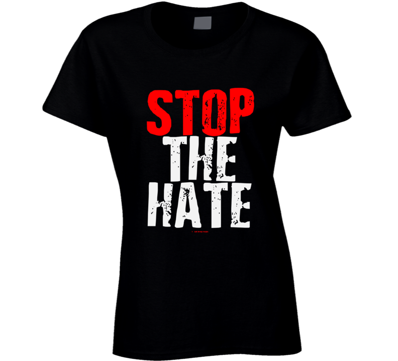 Stop The Hate Black Asian Latin Color Lives Matter Gift Cold Springs Designs Ladies T Shirt