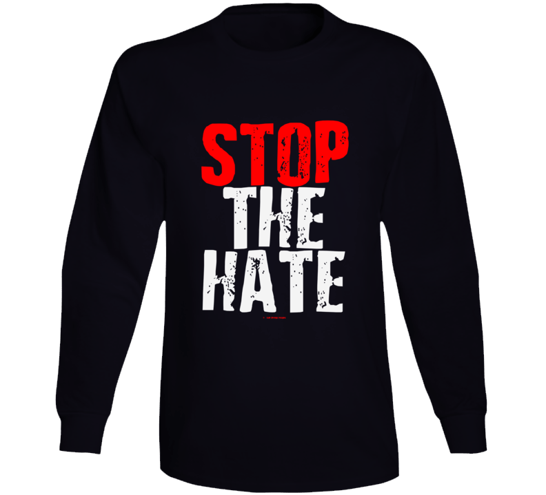 Stop The Hate Black Asian Latin Color Lives Matter Gift Cold Springs Designs Long Sleeve T Shirt