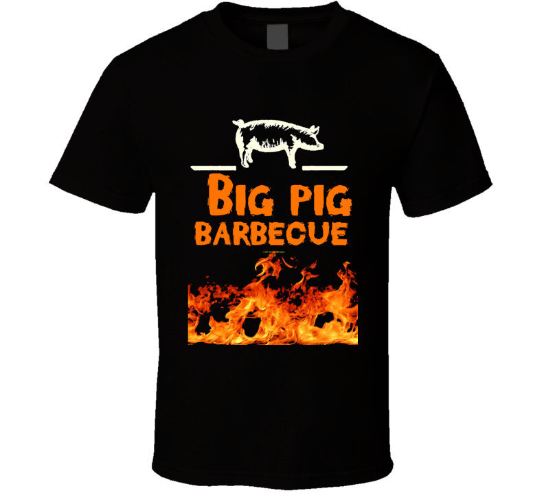 Big Pig Barbecue Flame Smoked Funny Gift Pork Bbq T Shirt