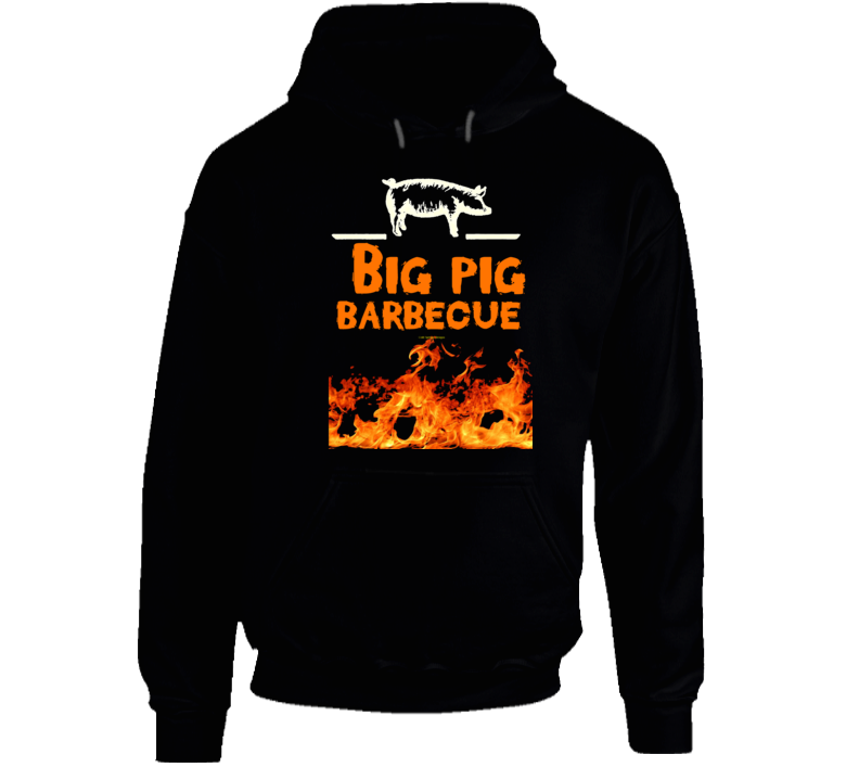 Big Pig Barbecue Flame Smoked Funny Gift Pork Bbq Hoodie