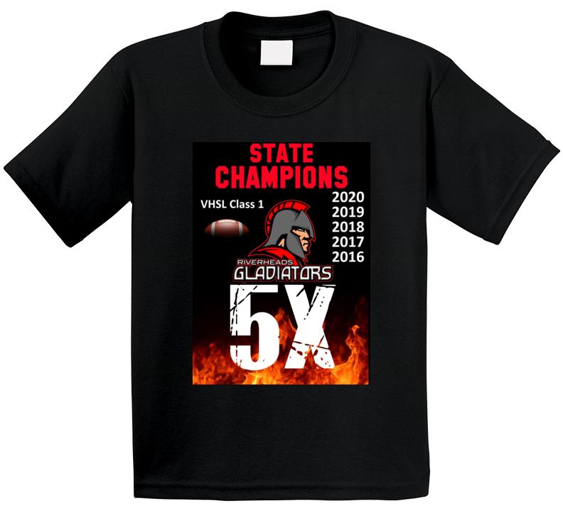 5x State Champions Riverheads High School Virginia T Shirt