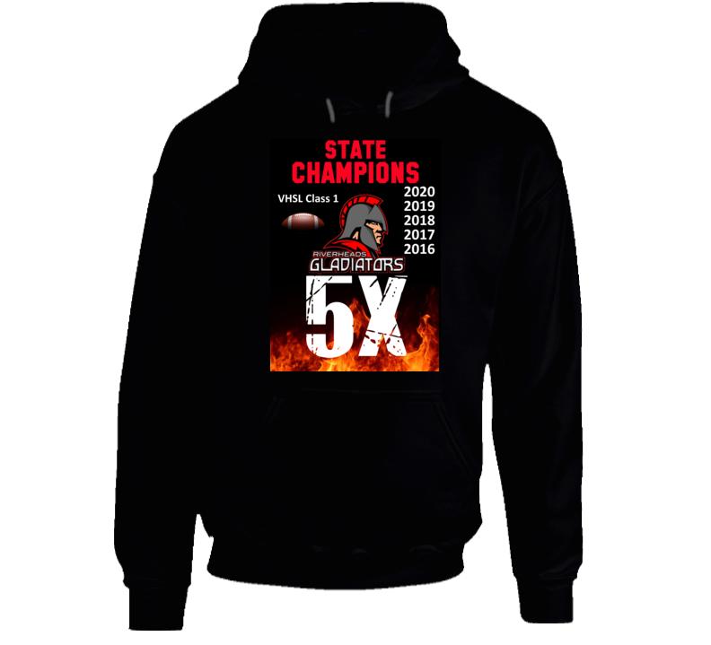 5x State Champions Riverheads High School Virginia Hoodie