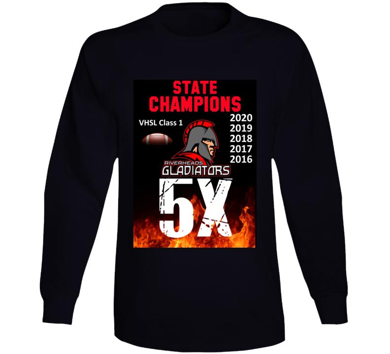 5x State Champions Riverheads High School Virginia Long Sleeve T Shirt