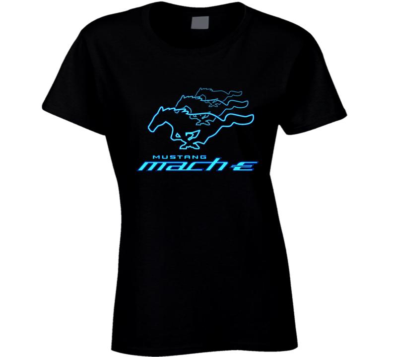 Mach E Running Horse Electric Car Gift Ladies T Shirt