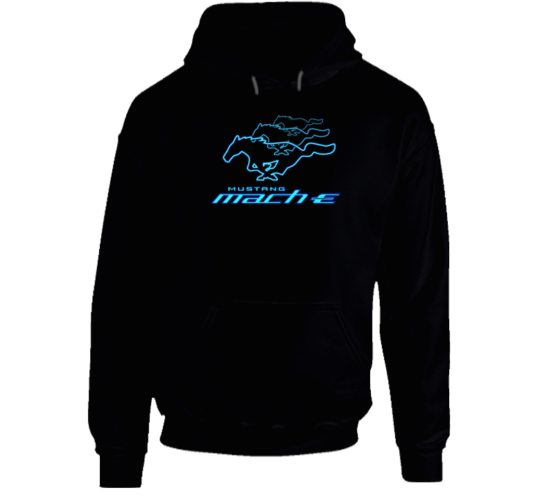 Mach E Running Horse Electric Car Gift Hoodie