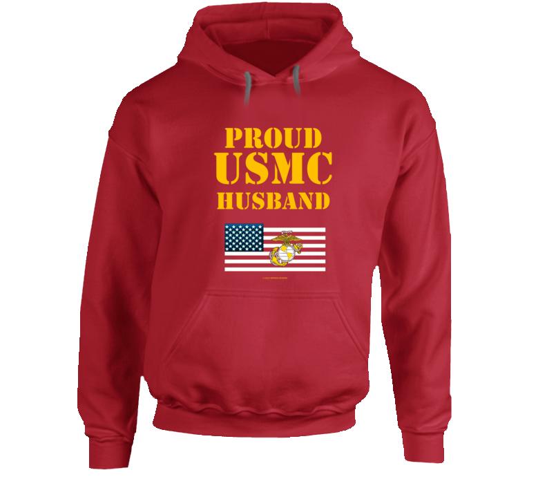 Proud Usmc Husband  Marines Family Gift Hoodie