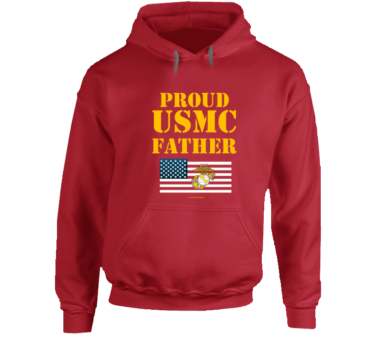 Proud Usmc Father Marines Family Gift Hoodie