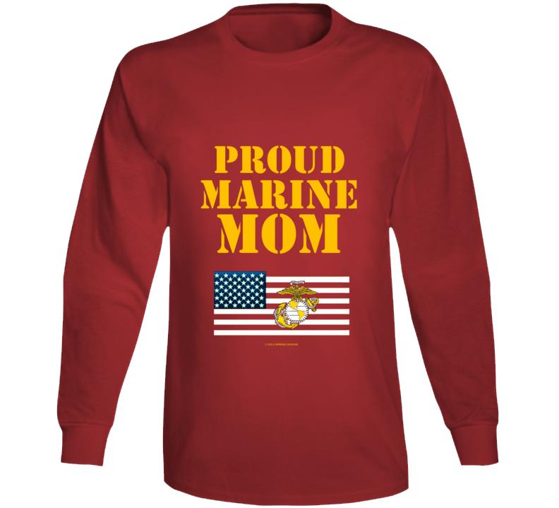 Proud Marine Mom Usmc Family Gift Long Sleeve T Shirt