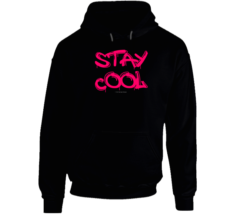 Stay Cool Funny Gift Summer Graffiti Cold Springs Designs Hoodie