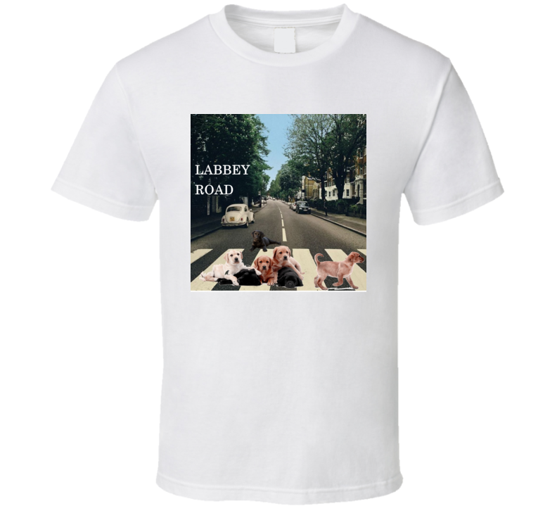Labbey Road Album Cover Spoof Labrador Retriever Funny Gift T Shirt