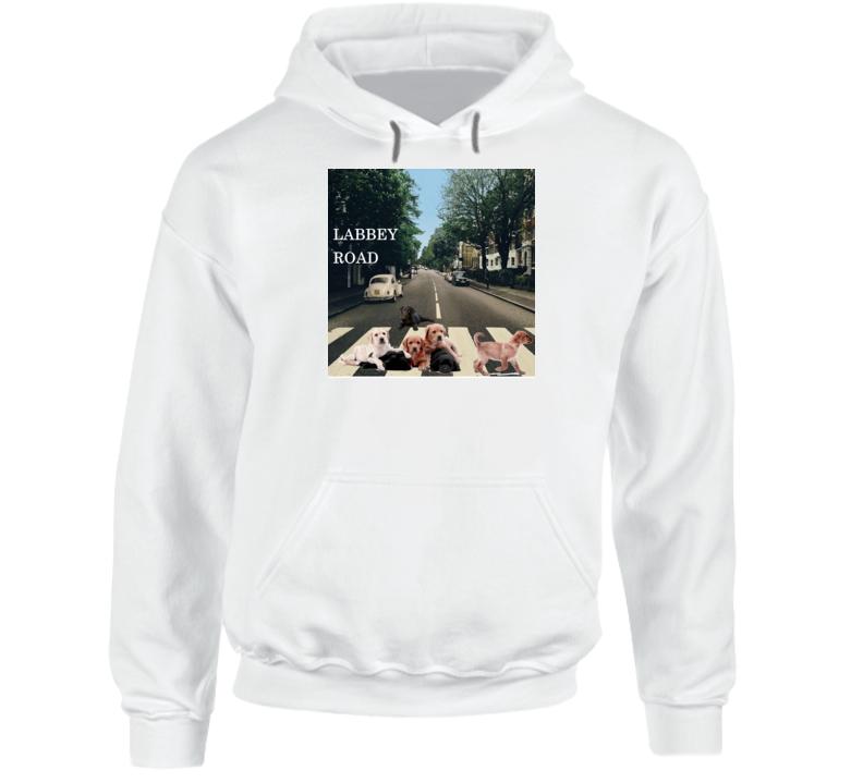 Labbey Road Album Cover Spoof Labrador Retriever Funny Gift Hoodie