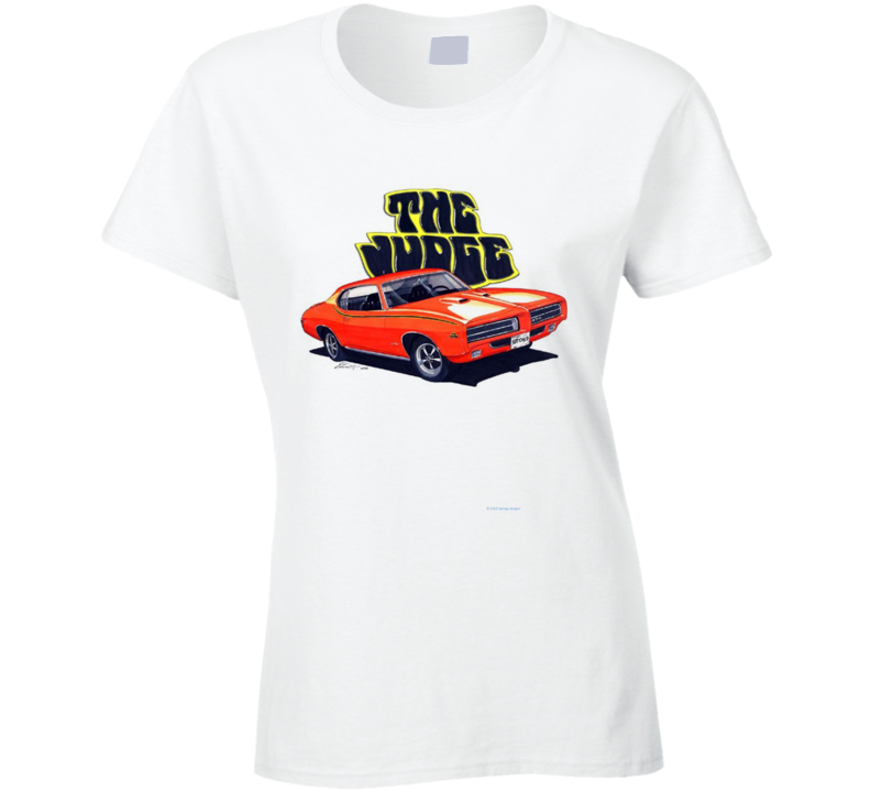 The Judge Goatgto 1970 Musclecar Gift  Hot Rod Ladies T Shirt