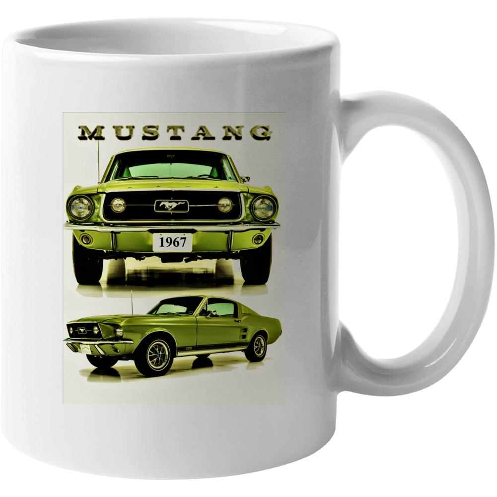 1967 Mustang Gt Fastback 2+2 Musclecar Gift Mug