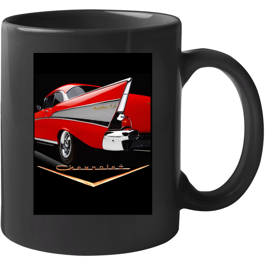 57 Chevy Red Fin Chevrolet Tei Five Classic Gift Mug