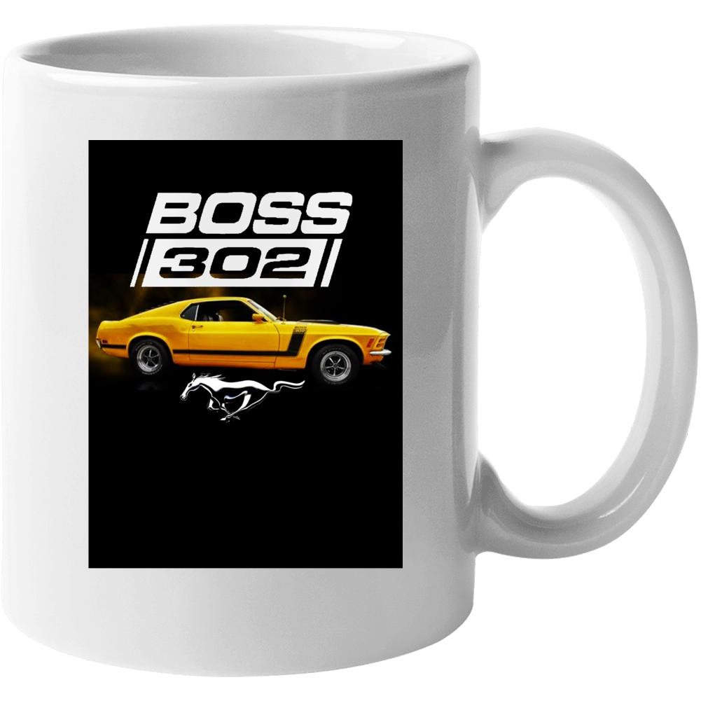 Boss 302 Ford Mustang Musclecar 1970 Gift Mug
