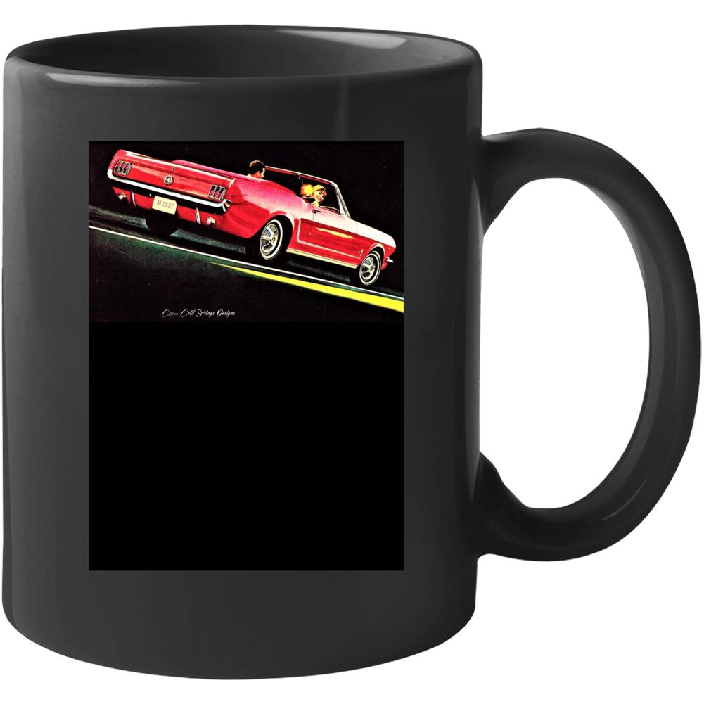 1965 Mustang Convertible Pony Car Ford Gift 1964 1/2 Mug