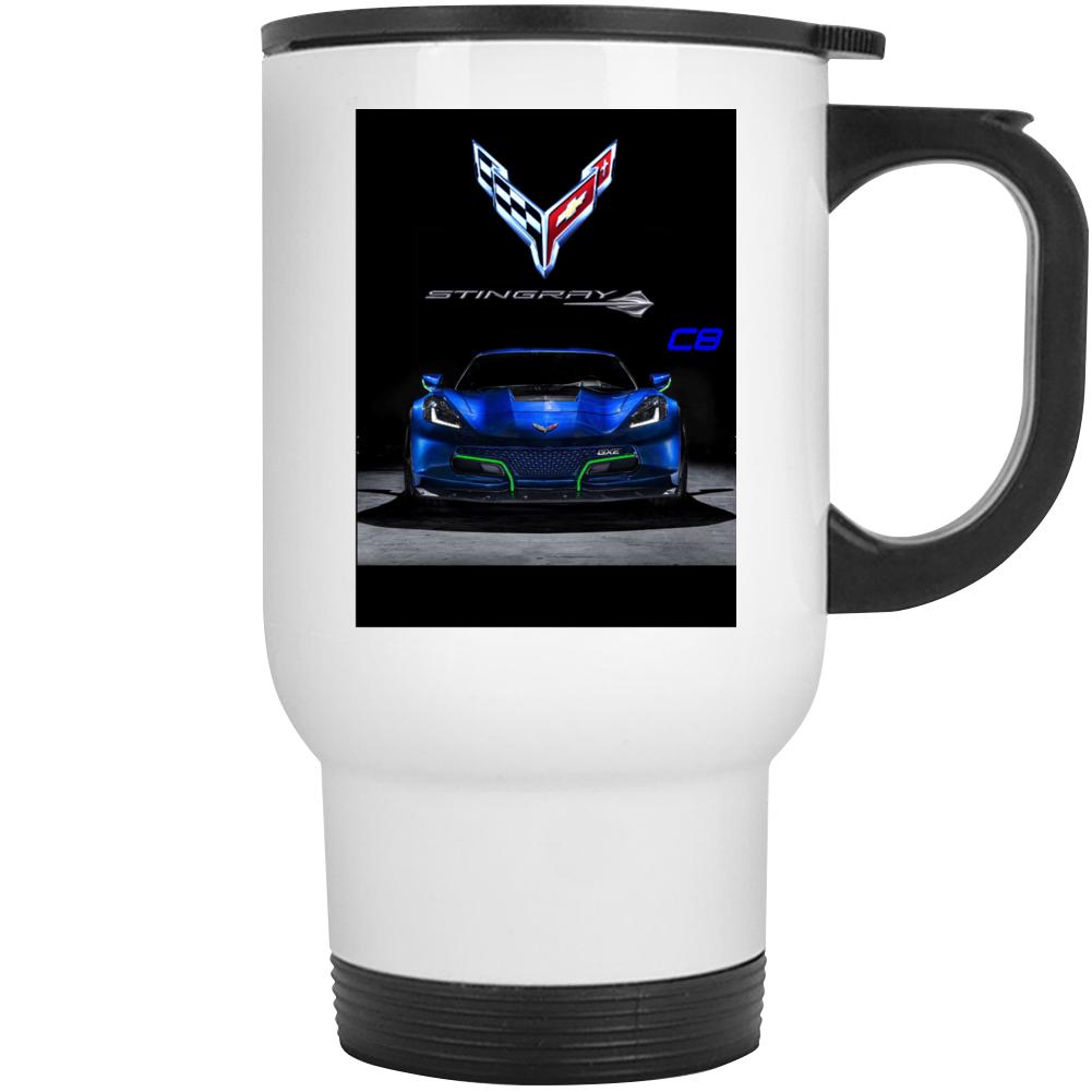 Chevrolet 2020 Corvette Stingray C8 Gift Mid Engine Blue Mug Mug