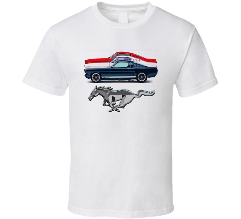 Mustang Fastbacks 1965 2+2 Classic Muscle Ponycar T Shirt