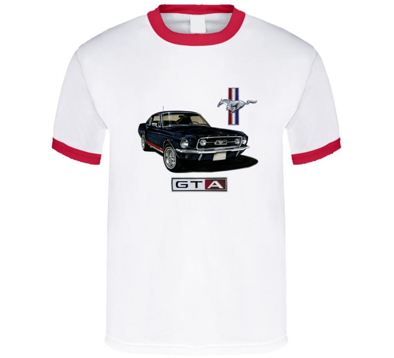 1967 Mustang 2+2 Fastback Gta Muslecar  Classic T Shirt