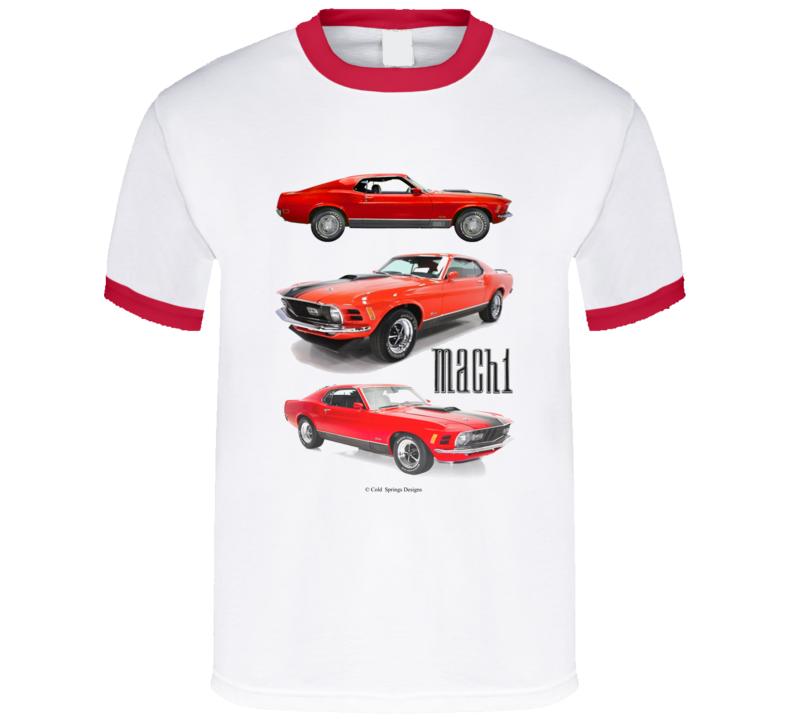70 Mustang Fastback Mach 1 Musclecar Sportsroof Big Block T Shirt