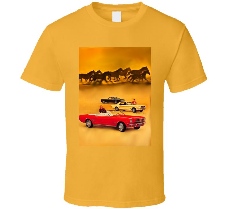 1965 Mustangs Running Wild Ponycar Gift Classic  T Shirt