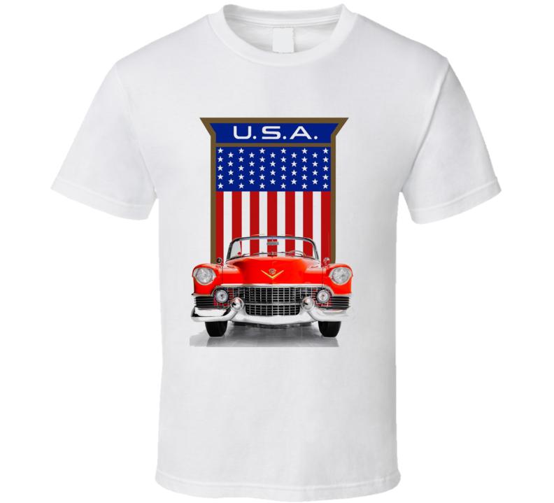 57 Caddy American Made Usa Flag Shield Classic Gift T Shirt