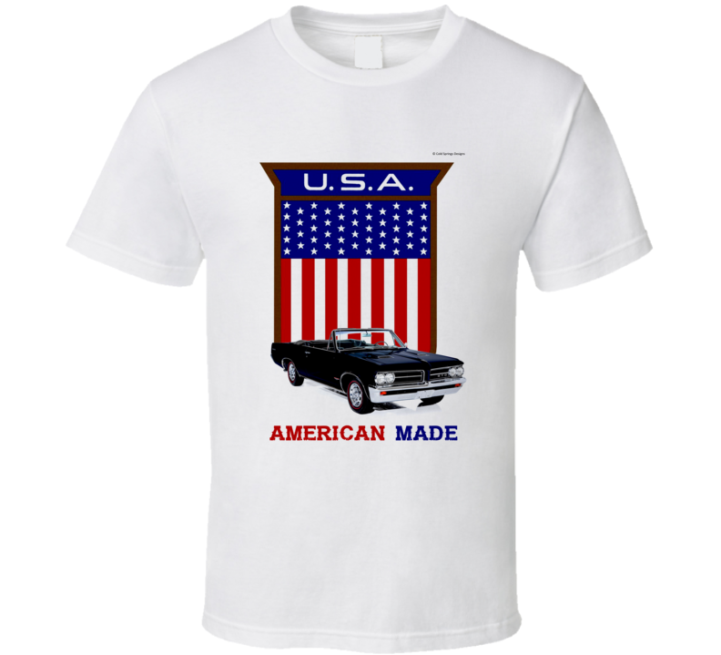 American Made 1964 Gto Muscle Car Usa Flag Shield Gift T Shirt