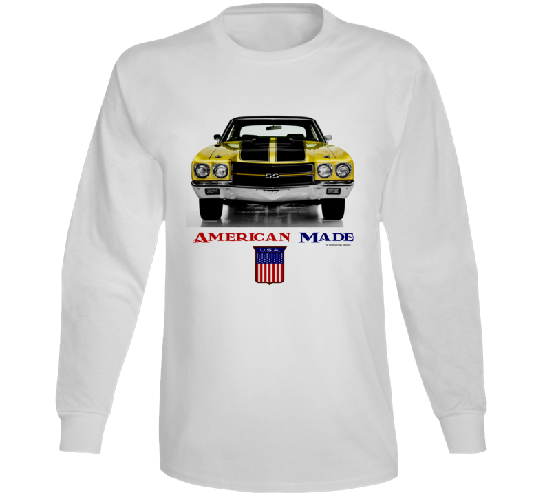 American Made 1970chevelle Muscle Car Classic Gift Long Sleeve T Shirt