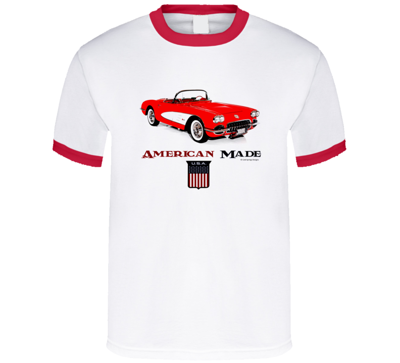 American Made C1 Vette Muscle Car Sports Car Classic Gift T Shirt