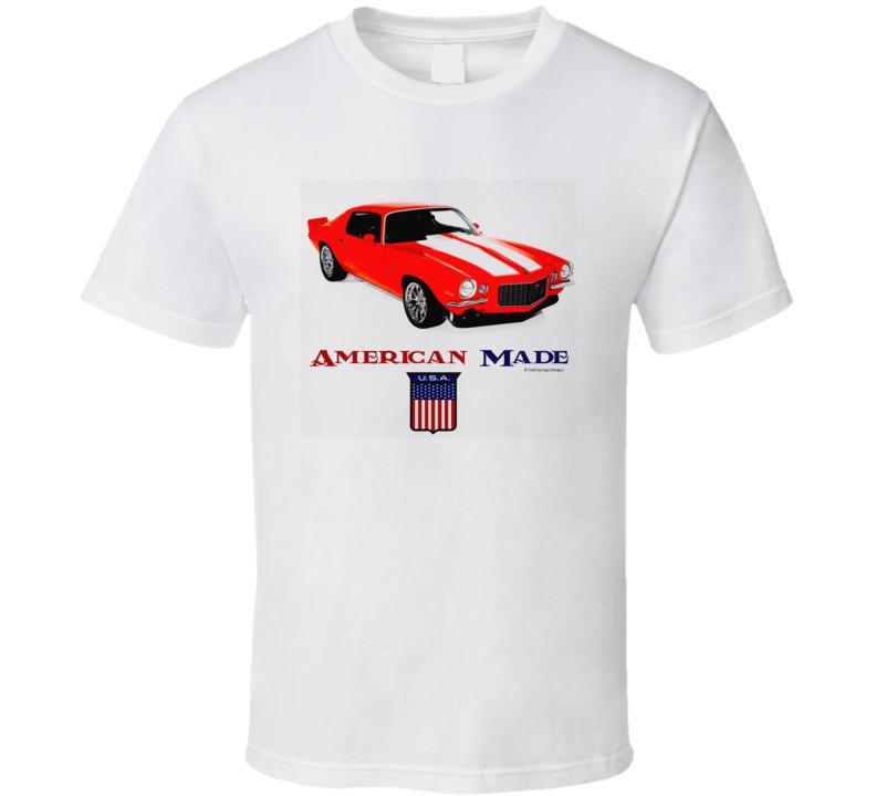 American Made 70camaro Muscle Car Classic Gift T Shirt