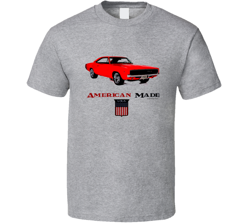 American Made Charger Muscle Car Classic Gift T Shirt