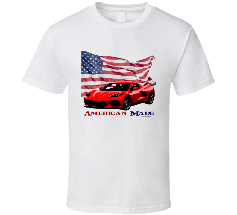 American Made C8 Vette 2021 22 Muscle Car Classic Gift T Shirt