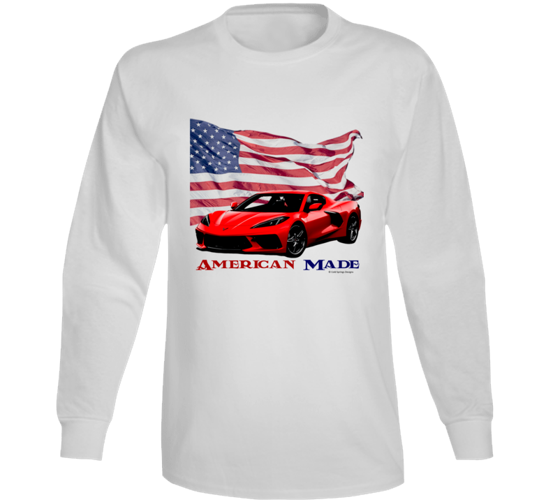 American Made C8 Vette 2021 22 Muscle Car Classic Gift Long Sleeve T Shirt