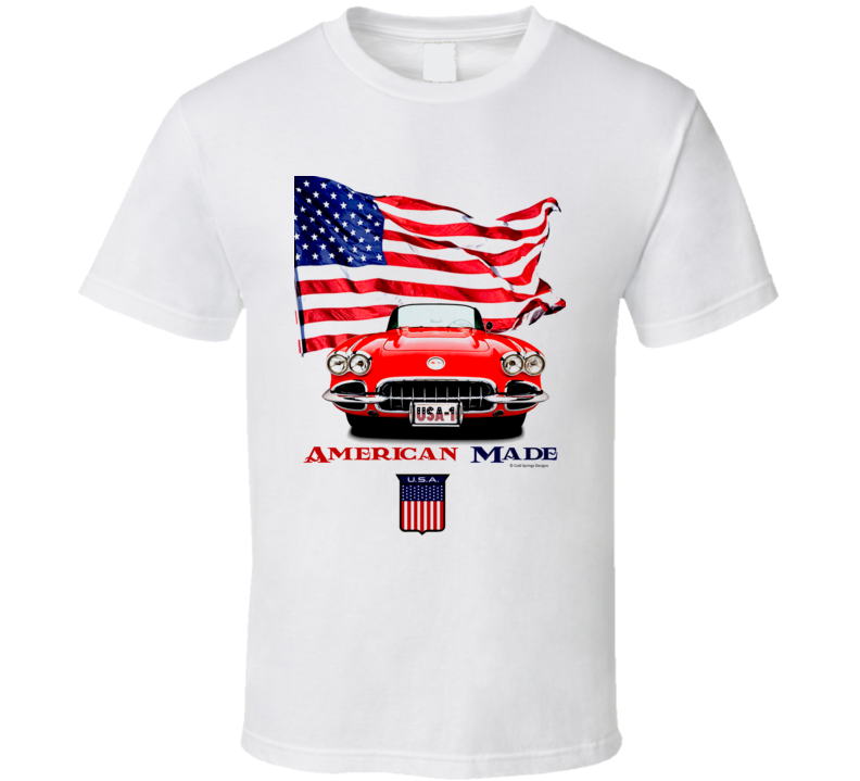 1962 Vette American Made Chevy Sports Car Classic Gift T Shirt