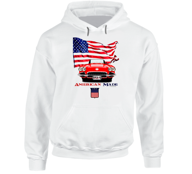 1962 Vette American Made Chevy Sports Car Classic Gift Hoodie