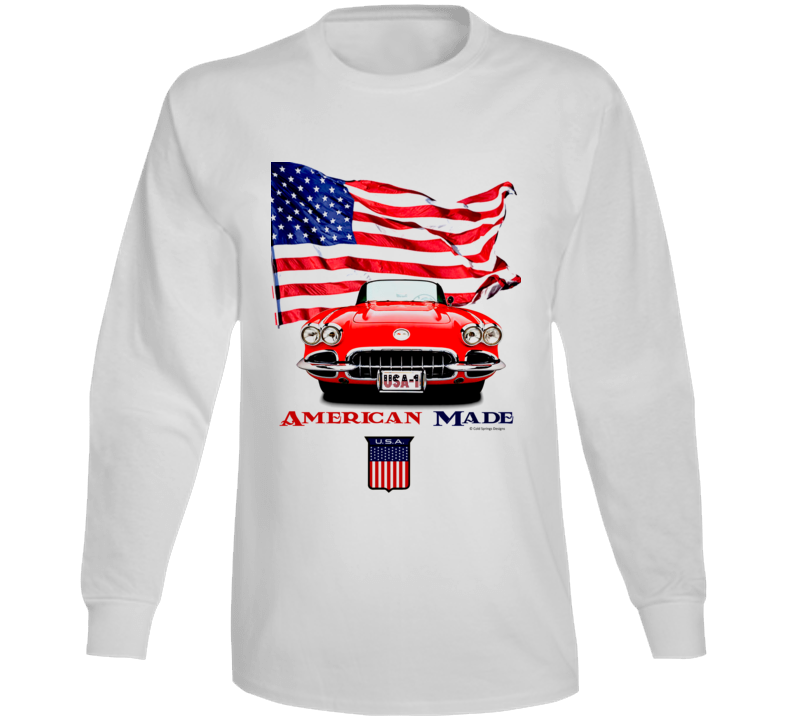 1962 Vette American Made Chevy Sports Car Classic Gift Long Sleeve T Shirt