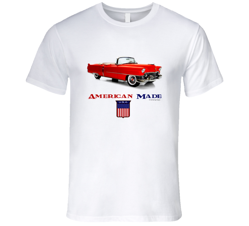 American Made 1957 Caddy Convertible Classic Car Gift T Shirt