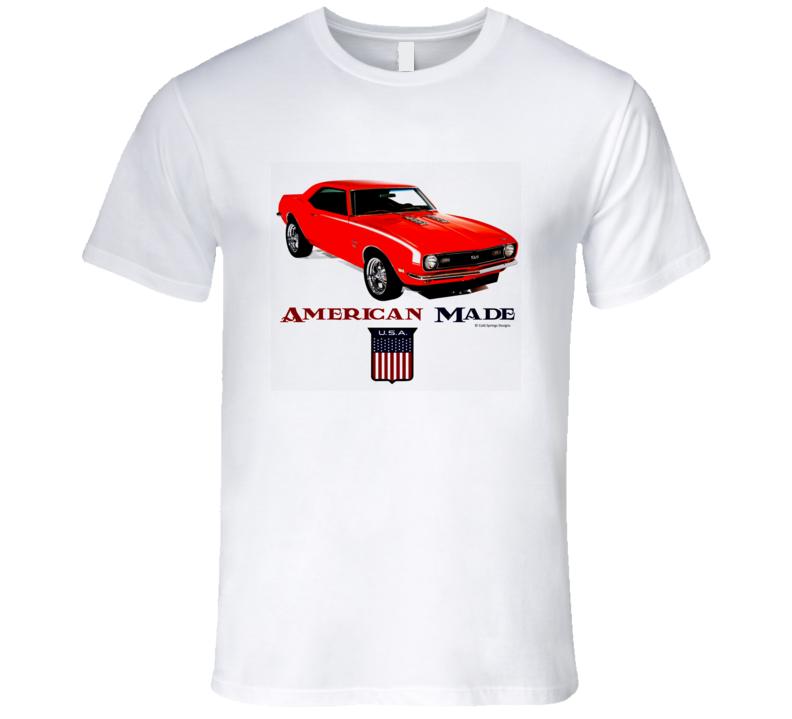 American Made Chevy Camaro Musclecar Gift Pemium Classic T Shirt