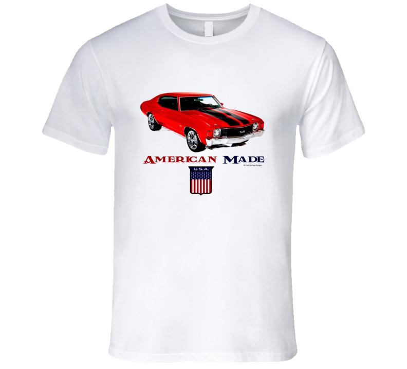 Amerivan Made Chevy Chevelle Musclecar [rmium Classic Gift T Shirt