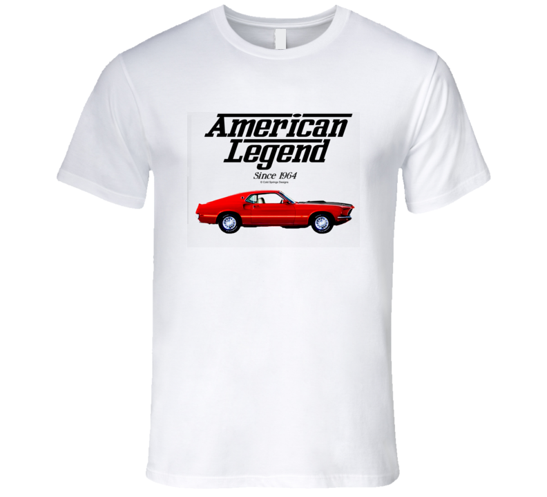 69 Mustang Mach One Red American Legend Since 1964 Premium Gift T Shirt