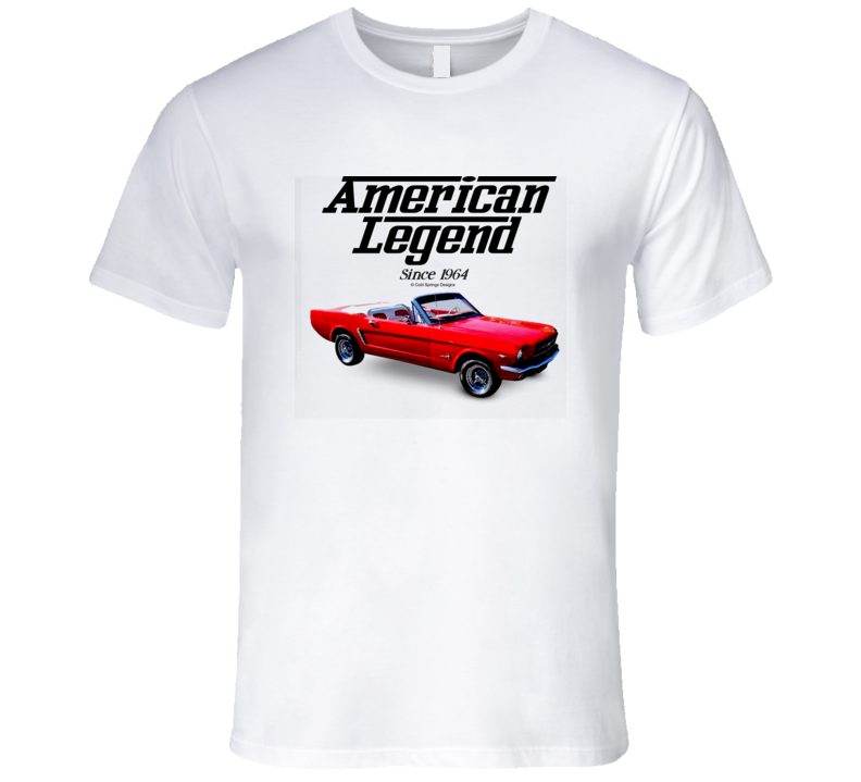 65 Mustang Red Convertible American Legend Since 1964 Premium Gift T Shirt