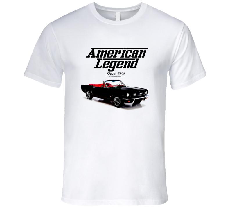 65 Mustang Convertible Black American Legend Since 1964 Premium Gift T Shirt