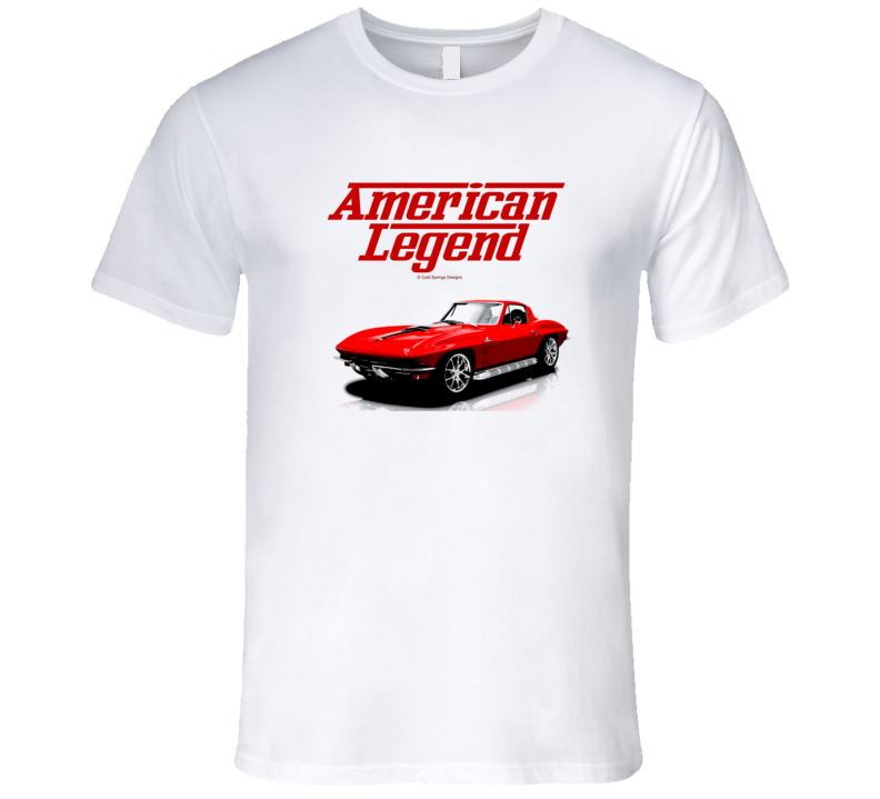 64 Midyear C2 Vette Coupe Red American Legend  Premium Gift T Shirt