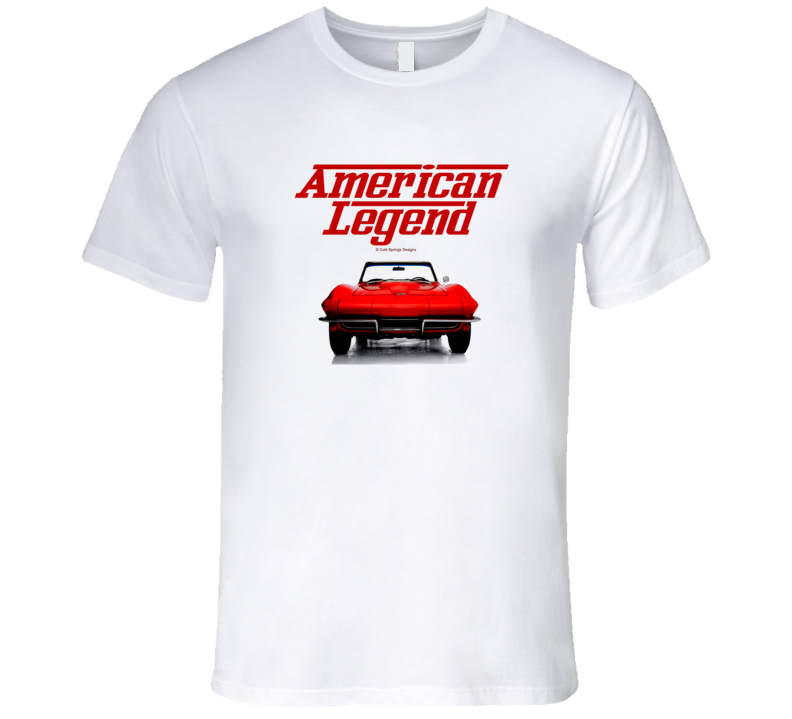 1964 Vette C2 Front Red Mid Year American Legend  Premium Gift T Shirt