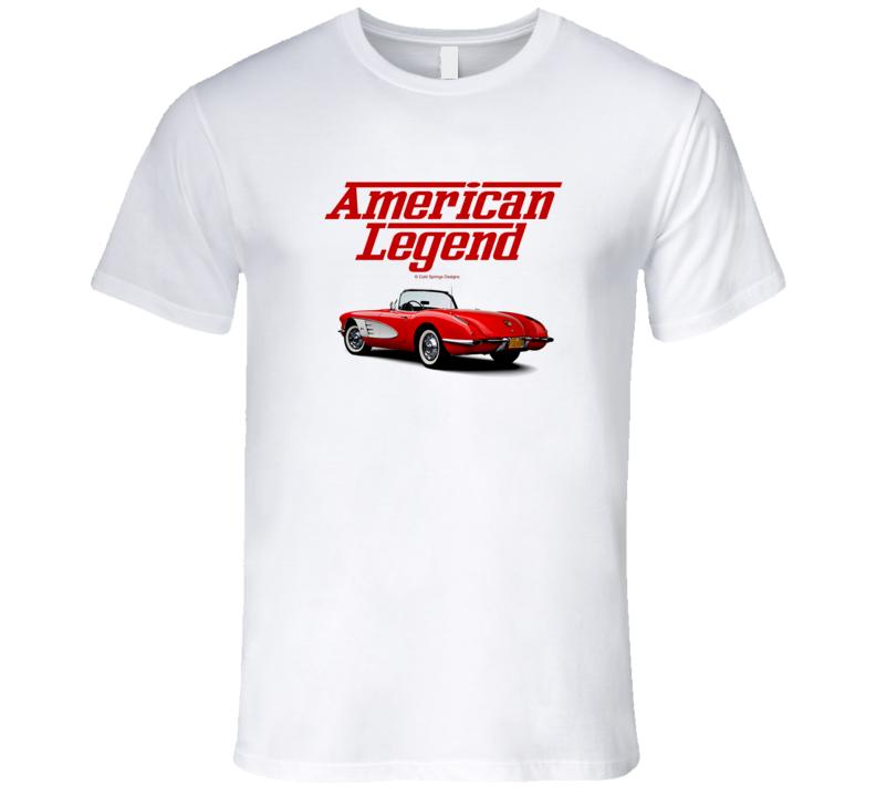 57 Vette C1 Red Back American Legend  Premium Gift T Shirt
