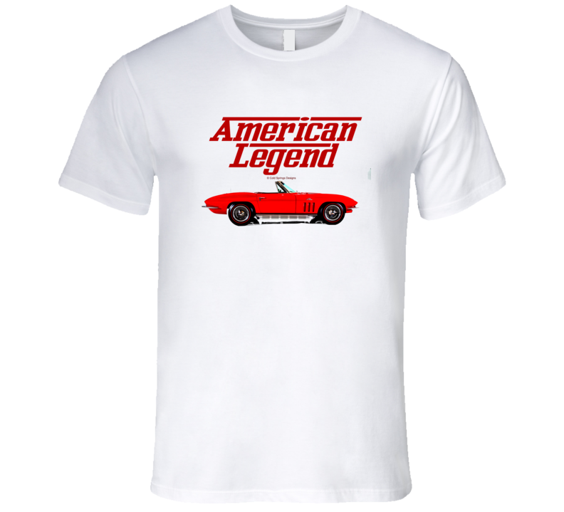 64 Mid Year Vette  Red Side American Legend  Premium Gift T Shirt
