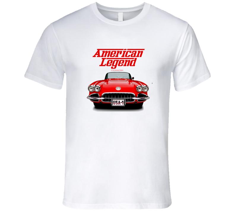 62 Vette C1 Front American Legend  Premium Gift T Shirt