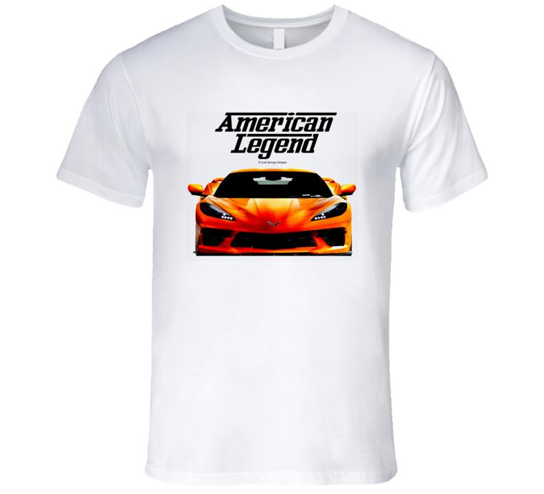 2021 C8 Vette Front American Legend  Premium Gift T Shirt